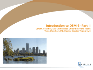 Introduction To DSM-5- Part II