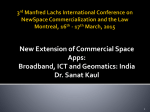 New Extension of Commercial Space Apps: Broadband, ICT and Geomatics: India