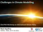 Challenges in Climate Modelling  Noel Aquilina