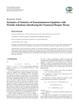 Research Article Dynamics of Numerics of Nonautonomous Equations with
