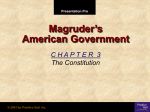 Magruder's American Government C H A P T E R  3