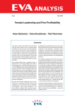 Female Leadership and Firm Profitability Summary No. 3