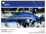 Responsible Management Education at a Time of Crisis