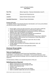 Employee Responsibility Relevant Qualifications Skills/Experience