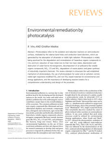 REVIEWS Environmental remediation by photocatalysis R. Vinu AND Giridhar Madras