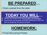 … BE PREPARED TODAY YOU WILL Grab a packet from the table