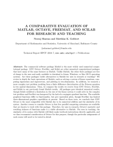 a comparative evaluation of matlab, octave, freemat - here