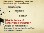Conduction Induction Friction Essential Question: How do
