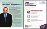 Faculty Focus: MICHAEL BOURLAKIS OPEN EXECUTIVE