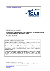 ICLS Occasional Paper 6.1 Families and Children Study 2006 – 2008.