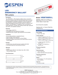 LED EMERGENCY BALLAST