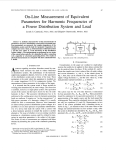 On-Line Measurement of Equivalent Parameters for Harmonic