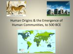 Chapter One: Nature, Humanity, & History, to 3500 BCE