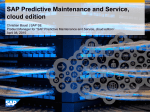 SAP Predictive Maintenance and Service