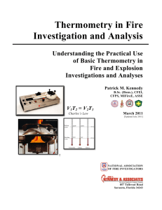 Thermometry in Fire Investigation and Analysis