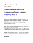 Perceived environmental uncertainty, information skills and