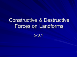 Constructive & Destructive Forces on Landforms 5-3.1