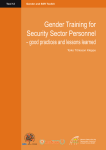 Gender Training for Security Sector Personnel – good practices and lessons learned