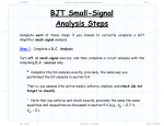 BJT Small-Signal Analysis Steps