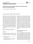 Cardiovascular disease and hypertension in sub-Saharan Africa: burden, risk and interventions