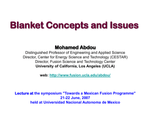 Blanket Concepts and Issues Mohamed Abdou