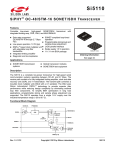 Si5110 Data Sheet -- SiPHY OC-48/STM