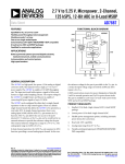 2.7 V to 5.25 V, Micropower, 2-Channel, AD7887 Data Sheet