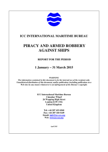 2015 Q1 IMB Piracy Report