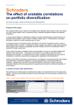 Schroders  The effect of unstable correlations on portfolio diversification