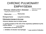 chronic pulmonary emphysema