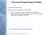 Functional Programming Paradigm Learning Outcomes: