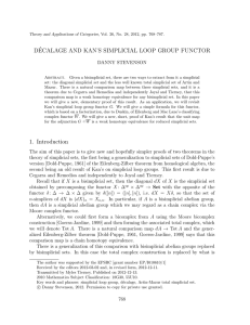 D´ ECALAGE AND KAN'S SIMPLICIAL LOOP GROUP FUNCTOR DANNY STEVENSON