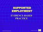 supported employment - WV Behavioral Health Planning Council