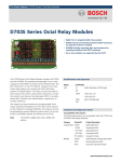 D7035 Series Octal Relay Modules