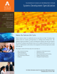Systems Development Brochure