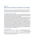 Electronic Commerce System Case Study Chapter 22