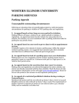 WESTERN ILLINOIS UNIVERSITY PARKING SERVICES Parking Appeals 1