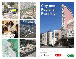 City and Regional Planning