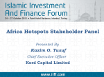 Africa Hotspots Stakeholder Panel Presented By Kazim O. Yusuf