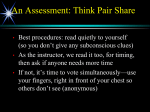 An Assessment: Think Pair Share