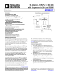 16-Channel, 1 MSPS, 12-Bit ADC with Sequencer in 28-Lead TSSOP AD7490-EP Data Sheet