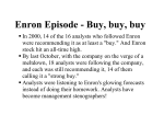 Enron Episode - Buy, buy, buy