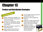 Chapter 13 - Product and Distribution Strategies