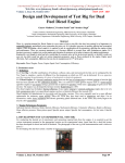 Design and Development of Test Rig for Dual Fuel Diesel Engine
