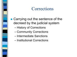 Sentencing History of Corrections