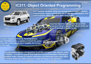 IC211: Object Oriented Programming