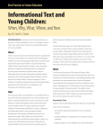 Informational Text and Young Children