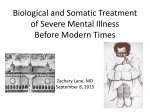 Biological and Somatic Treatment of Severe Mental Illness Before Modern Times