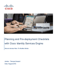 Planning and Pre-deployment Checklists with Cisco Identity Services Engine