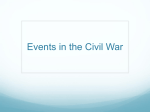 Events in the Civil War